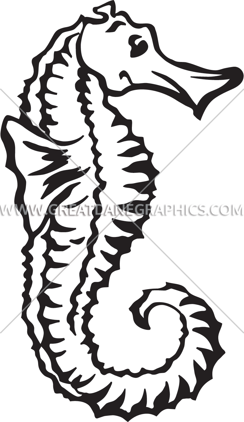 Fish with bubbles clipart black and white transparent Sea Horse Bubbles | Production Ready Artwork for T-Shirt Printing transparent
