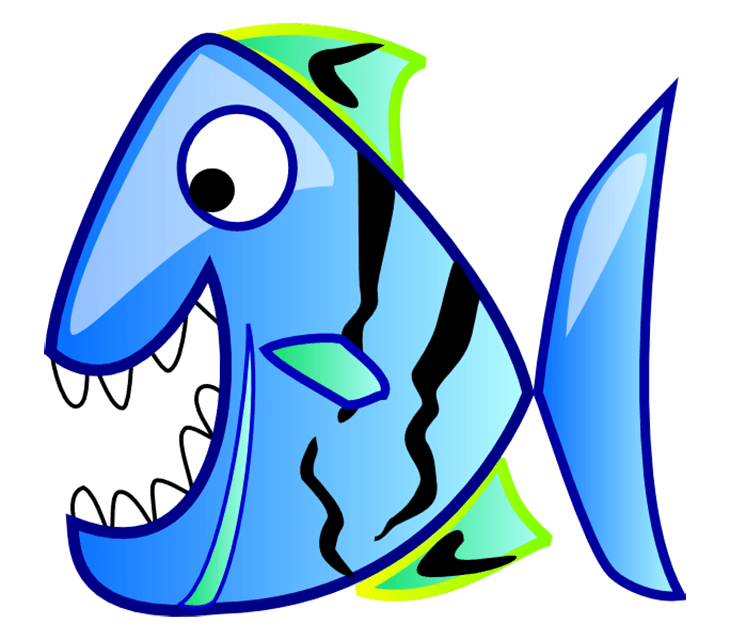 free clip art. Fish with different mouth shapes with color clipart