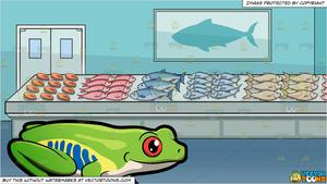 Fish with feet clipart. A tree frog and