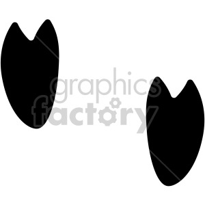 Pig hoof tracks vector. Fish with feet clipart