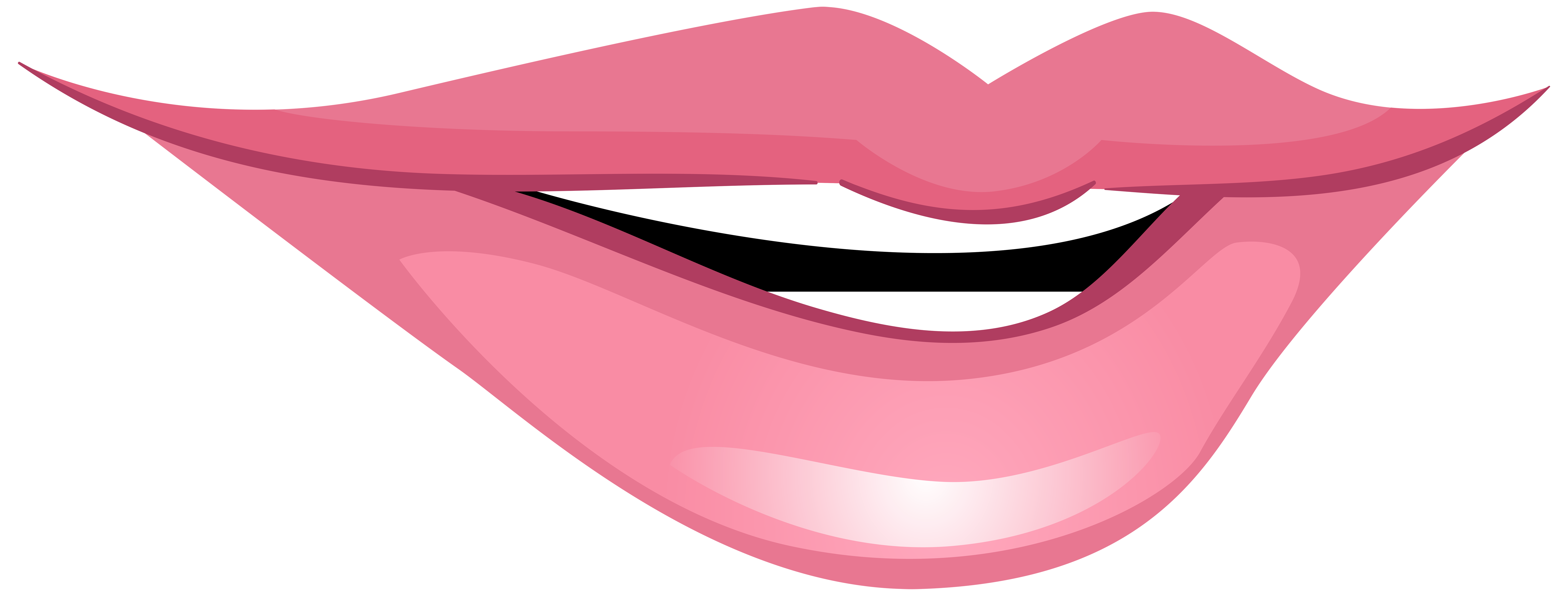 Fish with hook in mouth clipart clipart transparent download Pink Smiling Mouth PNG Clip Art - Best WEB Clipart clipart transparent download