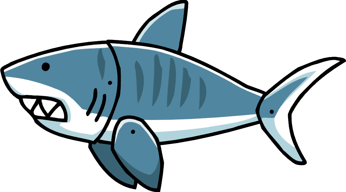 Shark eating fish clipart graphic royalty free stock Tiger Shark | Scribblenauts Wiki | FANDOM powered by Wikia graphic royalty free stock