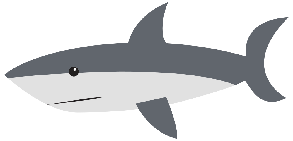 Fish with shark fin clipart graphic library OnlineLabels Clip Art - Cartoon Shark graphic library