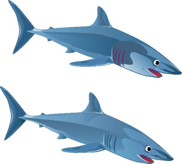 Fish with shark fin clipart vector library stock Blue Shark Clip Art at Clker.com - vector clip art online, royalty ... vector library stock