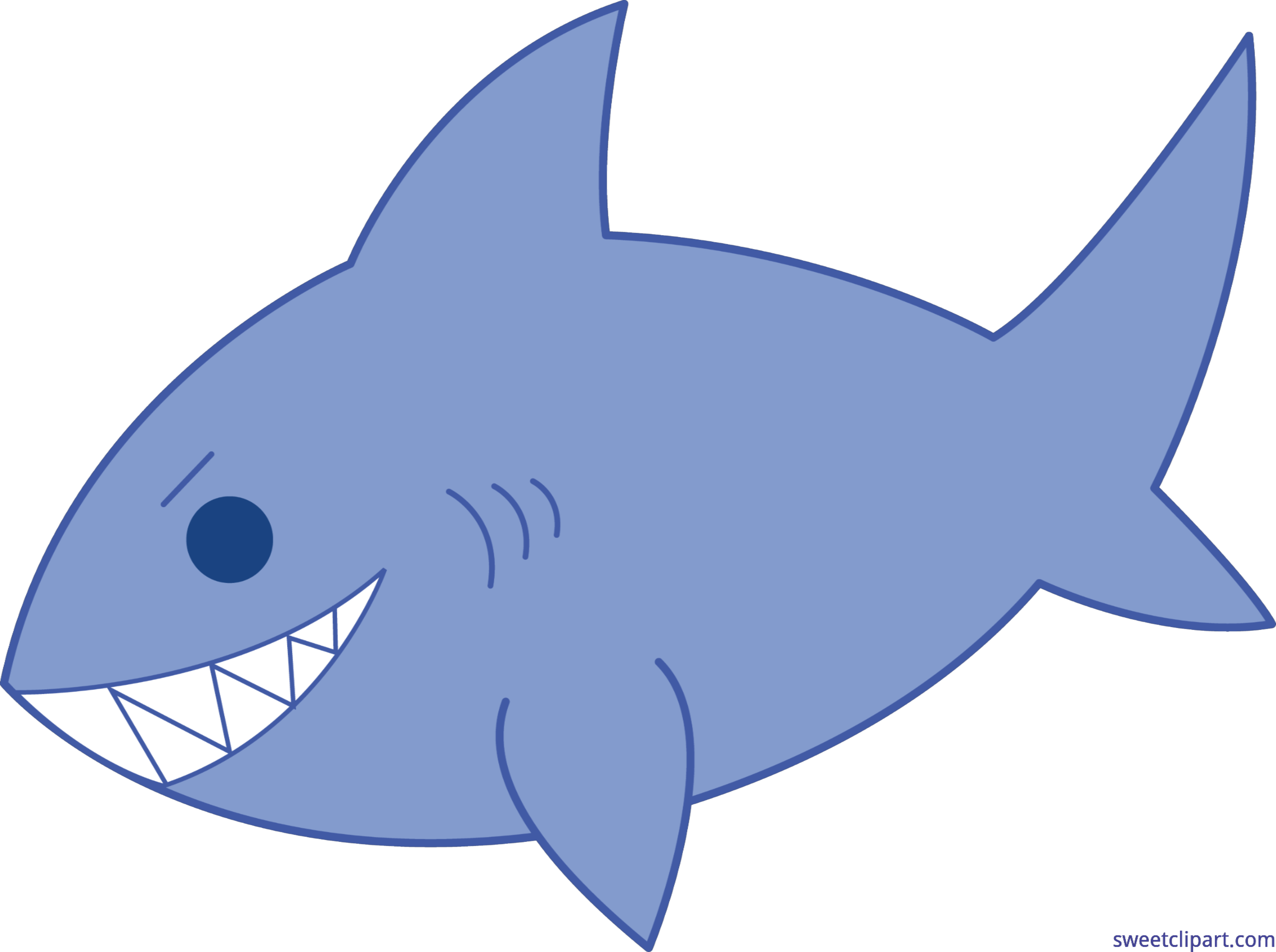 Fish with shark fin clipart clip art library download Blue Shark Clip Art - Sweet Clip Art clip art library download