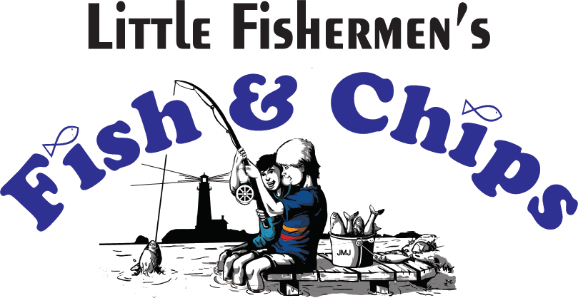 Chips restaurant cypress ca. Fisherman with lots of gear and one little fish clipart
