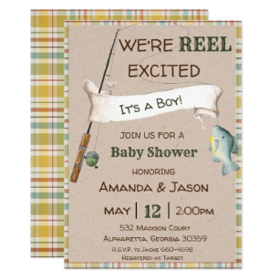 Fishing baby shower clipart