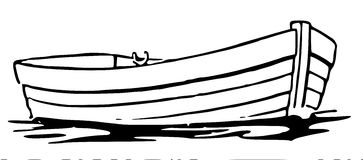 Fishing boat clipart black white. And free download best