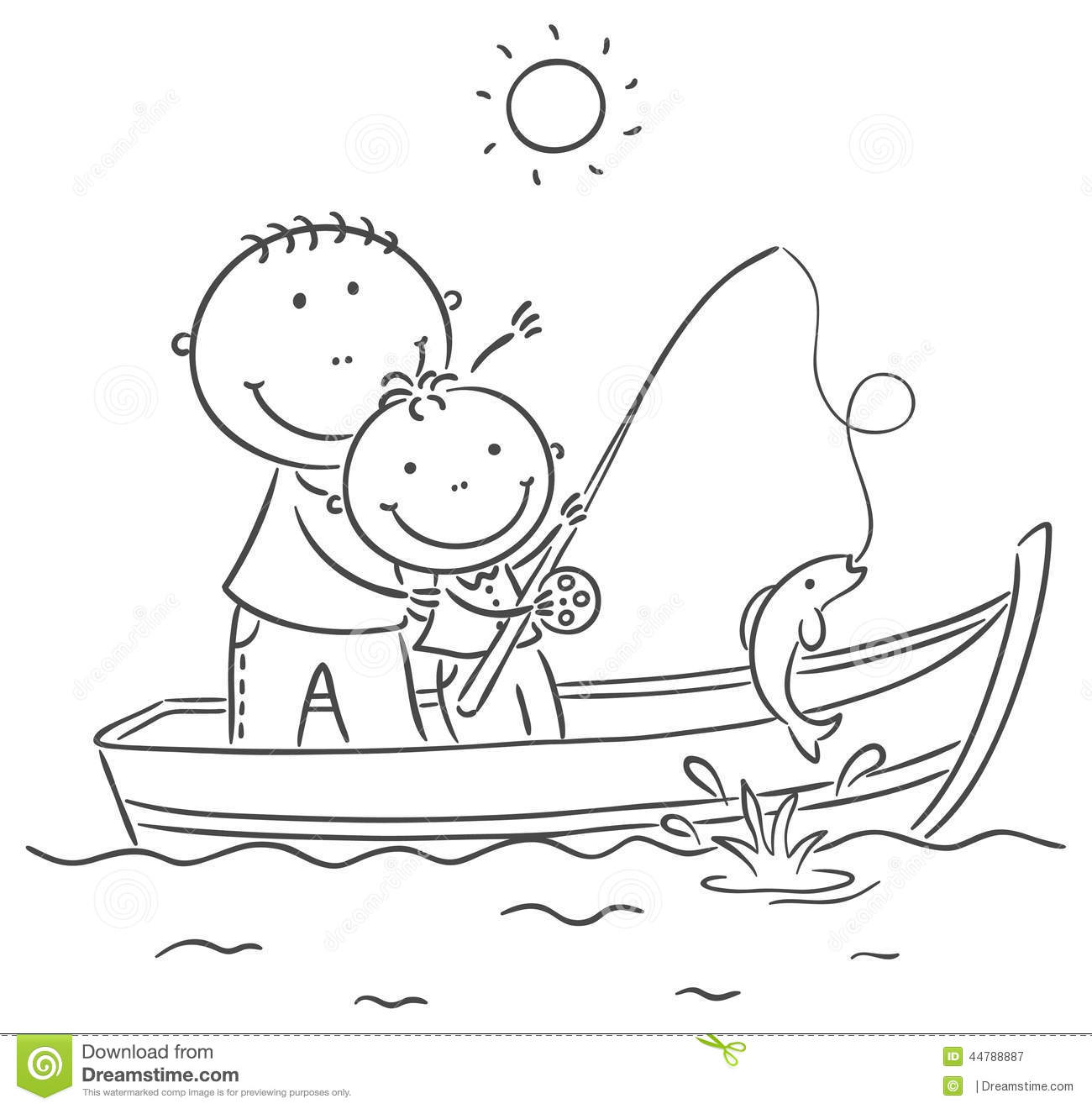 Fishing boat clipart black white. And images in collection