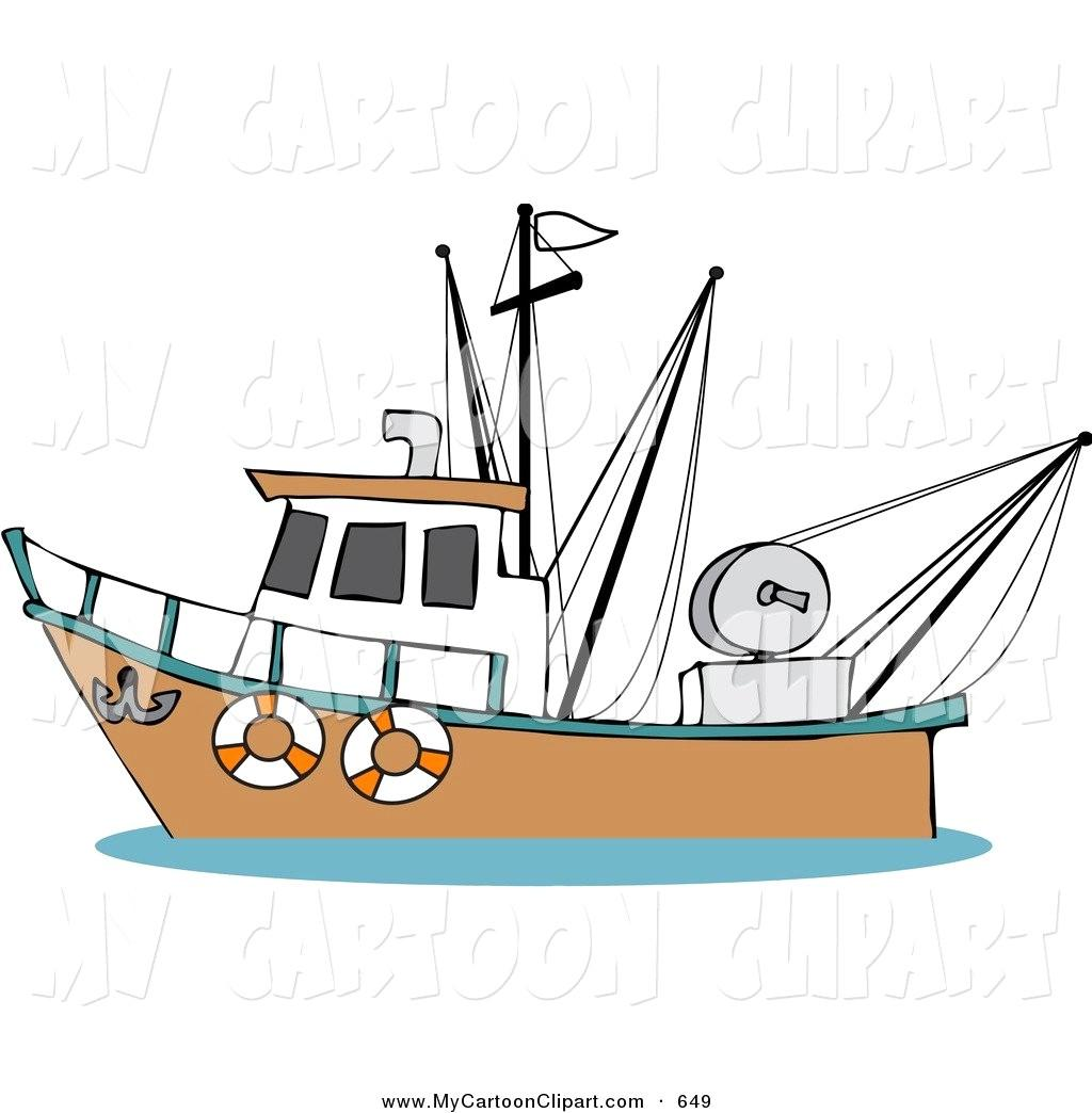 Fishing fleet clipart. Old boat drawing at