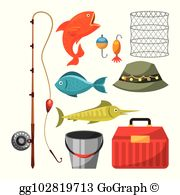 Fishing gear clipart. Clip art royalty free