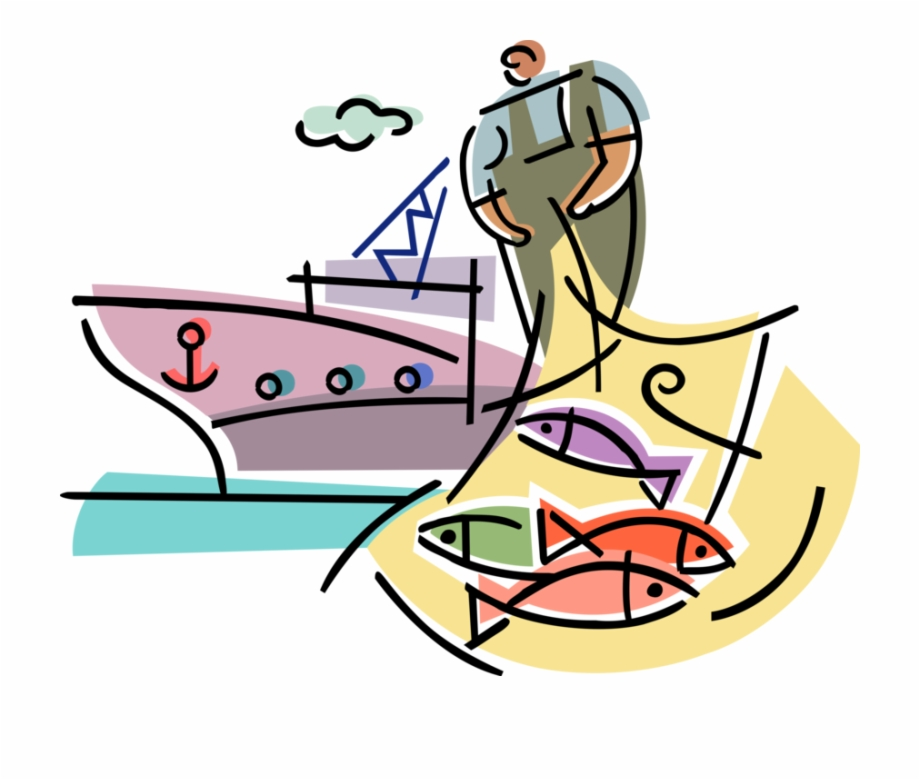 Fishing industry in clipart clipart free stock Vector Illustration Of Commercial Fishing Industry - Fishing ... clipart free stock