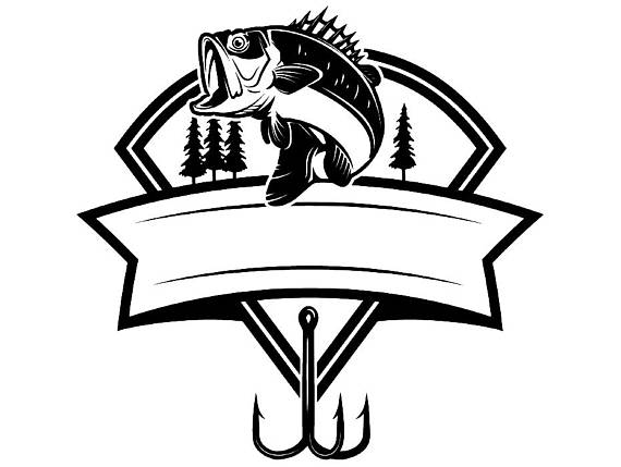 Fishing tournament clipart. Bass logo angling fish