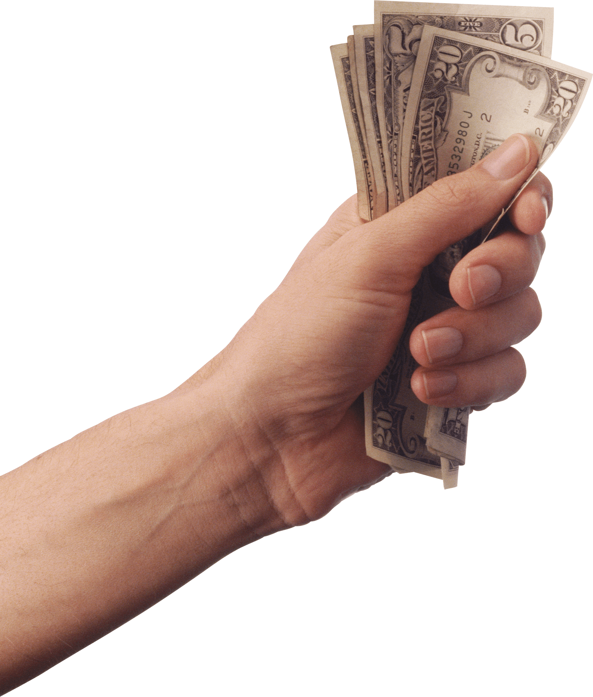 Hand with money clipart image black and white Money transparent PNG images - StickPNG image black and white