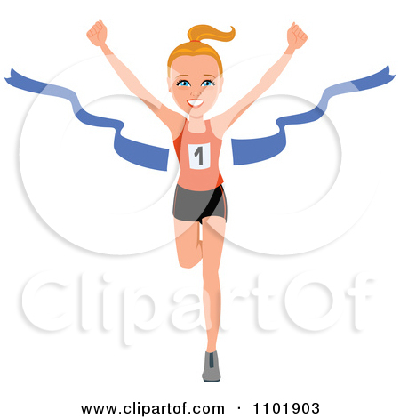 Fit and healthy clipart jpg royalty free Clipart Fit Healthy Marathon Runner Breaking Through The Finish ... jpg royalty free