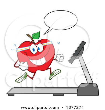Fit and healthy clipart svg library Cartoon of a Healthy Fit Green Apple Jogging - Royalty Free Vector ... svg library