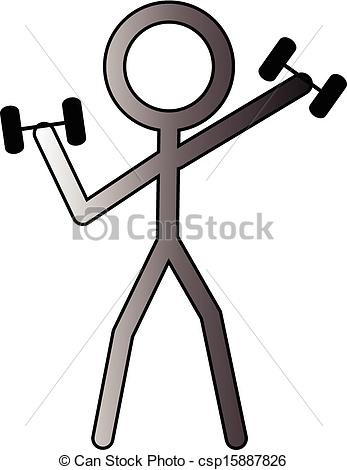 Fit clipart clip art stock Vector Illustration of fit man csp15887826 - Search Clipart ... clip art stock
