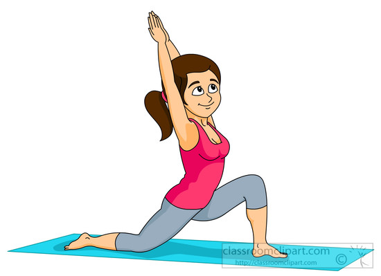 Fit girl clipart picture Girl working out clipart - ClipartFest picture
