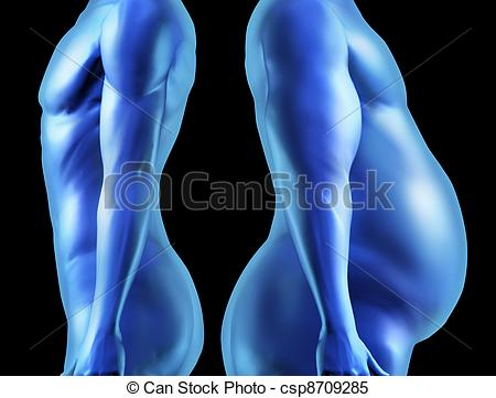 Fit human body clipart banner black and white stock Stock Images of Human Body Shape Comparison - Human body shape ... banner black and white stock
