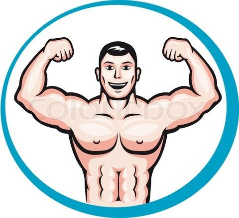 Fit human body clipart clipart royalty free library healthy cartoon bodybuilder fit bodybuilding masculine man person ... clipart royalty free library