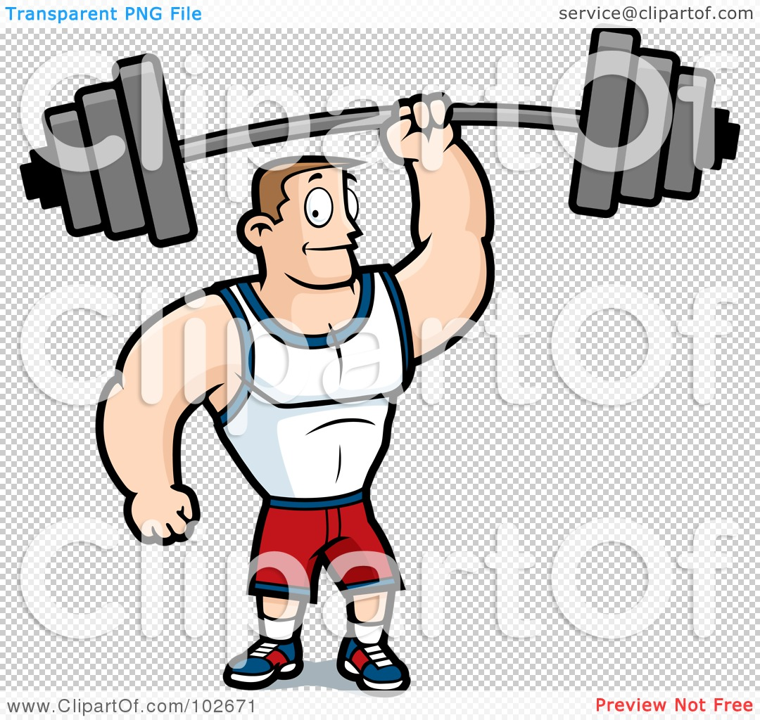 Fit man clipart svg freeuse stock Royalty-Free (RF) Clipart Illustration of a Fitness Man Holding Up ... svg freeuse stock