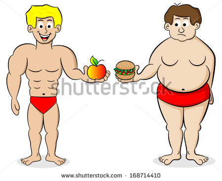 Fit man clipart clip art freeuse Illustration Fat Fit Man Their Diet Stock Illustration 168714737 ... clip art freeuse