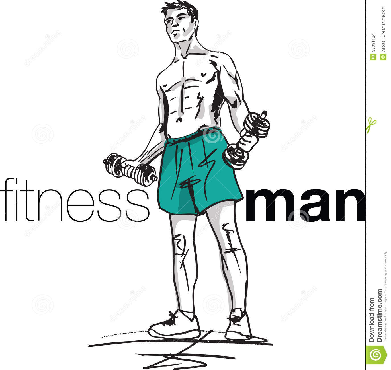 Fit man clipart png black and white library Fitness Man Illustration Stock Images - Image: 38331124 png black and white library