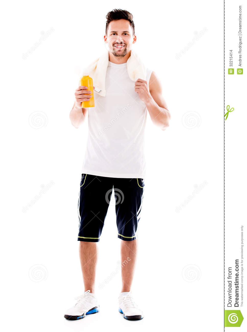Fit person clipart svg royalty free stock Fit Man After Workout Stock Images - Image: 32215414 svg royalty free stock