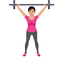Fit woman clipart jpg library download Free Fitness and Exercise Clipart - Clip Art Pictures - Graphics ... jpg library download