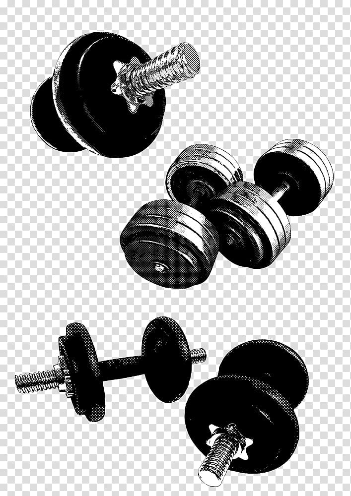 Fitness equipment clipart clip art royalty free Exercise equipment Dumbbell Physical exercise , Black Fitness ... clip art royalty free