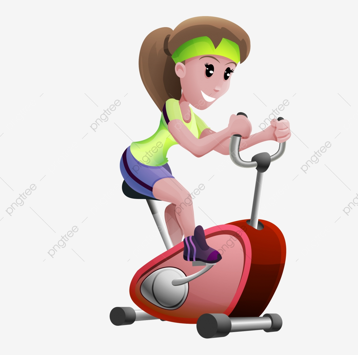 Fitness equipment clipart. Exercise bike spinning lose