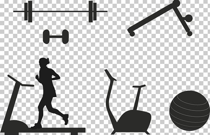 Fitness equipment clipart vector free Treadmill Exercise Equipment Physical Fitness Dumbbell PNG, Clipart ... vector free