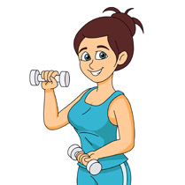 Free female workout cliparts. Fitness girl clipart