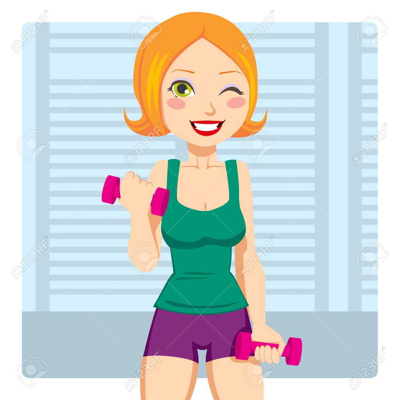 Free exercising cliparts download. Fitness girl clipart