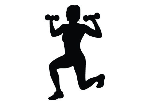 Silhouette vector download free. Fitness girl clipart