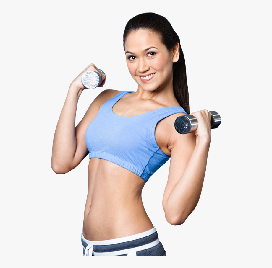 Fitness girl clipart. Black and white download