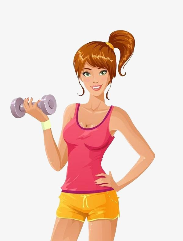 Millions of png images. Fitness girl clipart