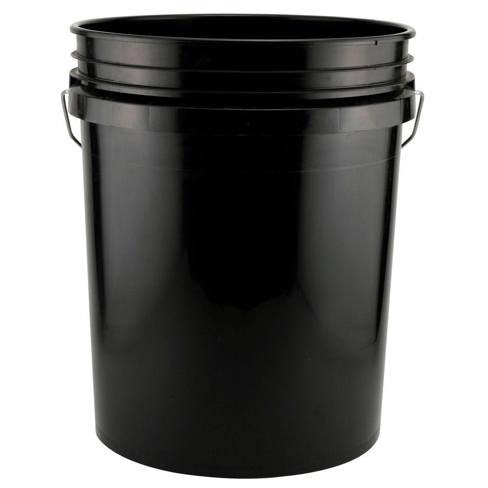 Five gallon bucket clipart black and white vector stock 5-Gal. Black Bucket vector stock