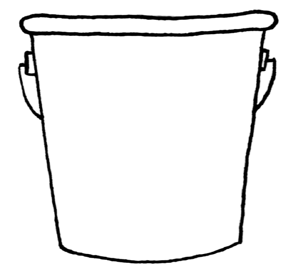 Five gallon bucket clipart black and white png library Rock And Roll: Toy plastic bucket with shovel and rake isolated on ... png library