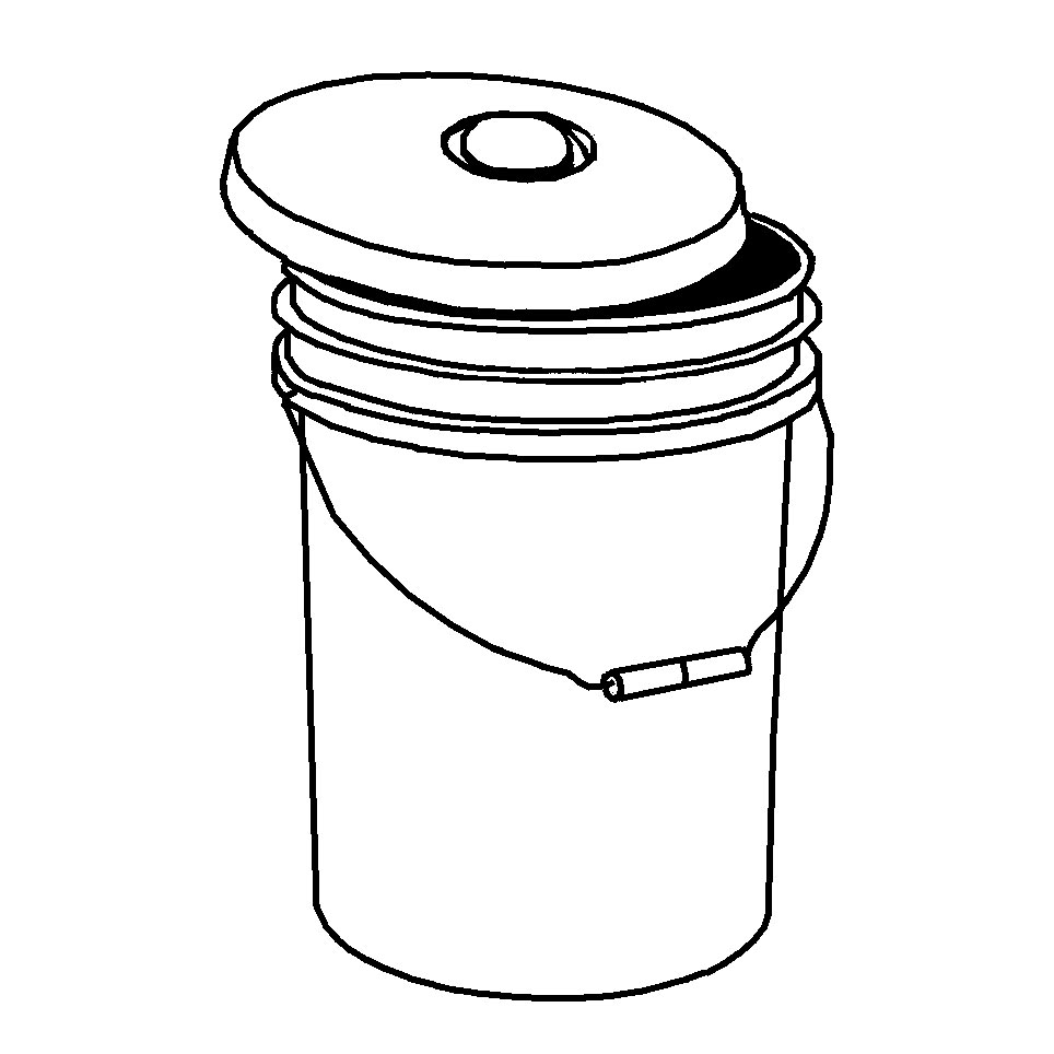 Five gallon bucket clipart black and white picture transparent 5 Gallon Pail with Lid & Flex Spout picture transparent