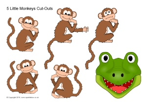Five little monkeys swinging in a tree clipart picture black and white library Five Little Monkeys in a Flying Saucer Nursery Rhyme Teaching ... picture black and white library