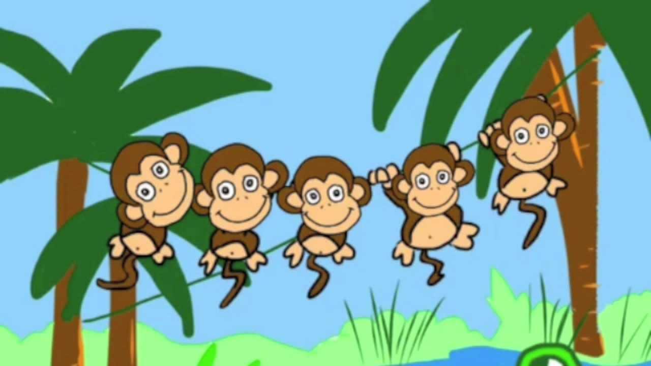 Five little monkeys swinging in a tree clipart clip transparent library Five little monkeys swinging in a tree clip transparent library