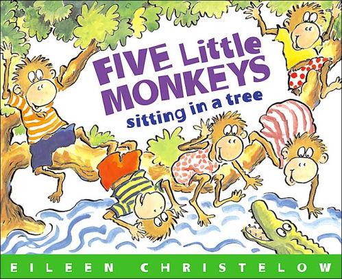 Five little monkeys swinging in a tree clipart graphic freeuse stock Five Little Monkeys Sitting in a Tree|Paperback graphic freeuse stock