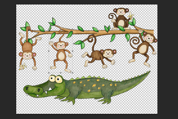 Monkeys swinging in the tree aligator clipart png free download Hybrid Tutorial: Learning Activities - Kate Hadfield Designs png free download