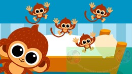 Five monkey jumping on the bed clipart. Download little monkeys