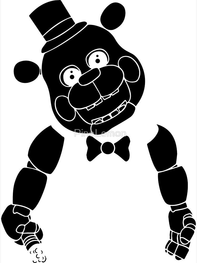 Five nights at freddy clipart black and white vector library download fnaf sticker black silhouette, five nights at freddys | Poster vector library download