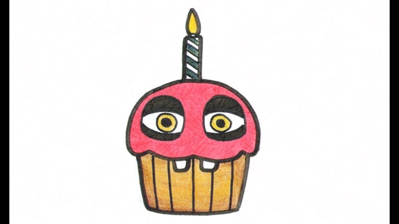 Five nights at freddy s chica s cupcake clipart clip art freeuse stock Como desenhar o Cupcake de Five Nights at Freddy\'s (FNAF) - How to Draw  Cupcake from FNAF clip art freeuse stock