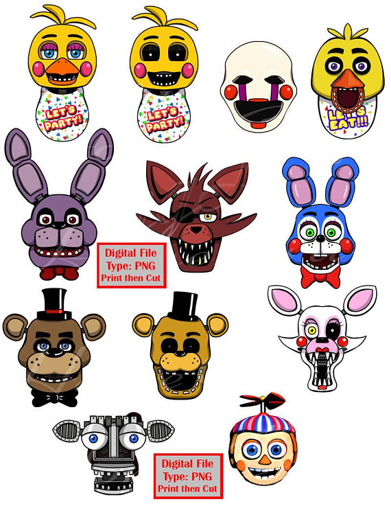 Five nights at freddy s chica s cupcake clipart graphic free Pin by Etsy on Products | Five nights at freddy\'s, Five night, Night graphic free