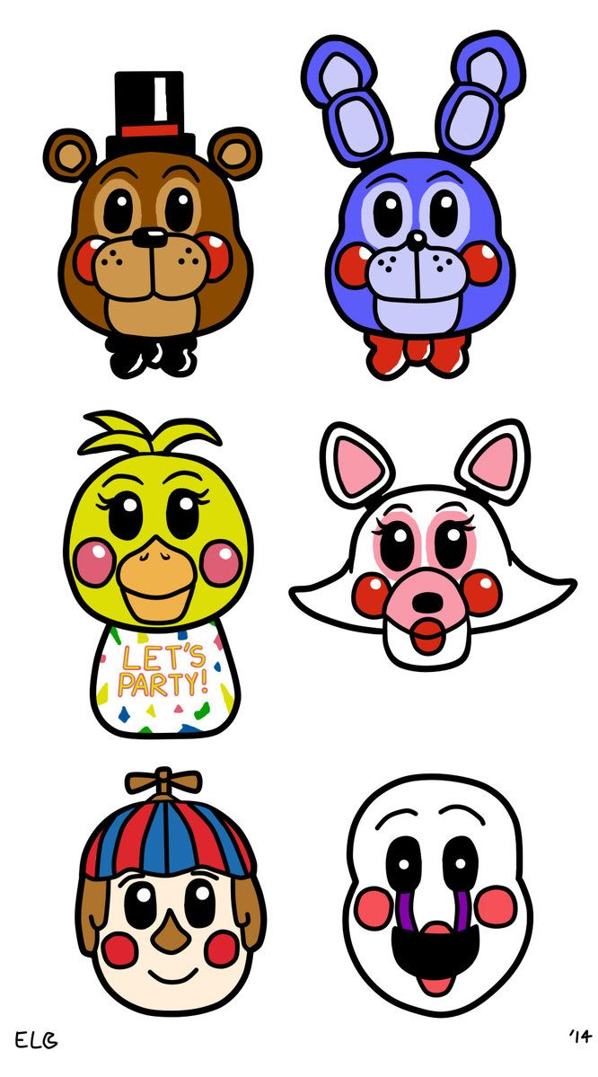 Freddy s colored images. Five nights at freddys clipart