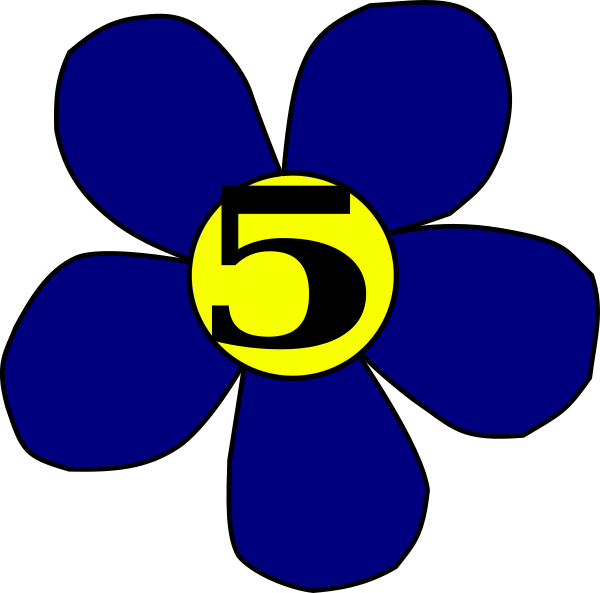 Five petal flower clipart jpg freeuse library Flower 5 Clip Art at Clker.com - vector clip art online, royalty ... jpg freeuse library